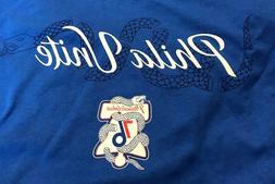 76ers Sixers Philadelphia Unite or Die Playoffs T-Shirt XL &