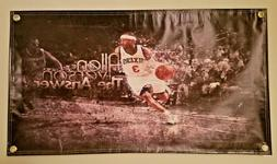Allen Iverson Philadelphia 76ers Vinyl Flag Picture Banner 2