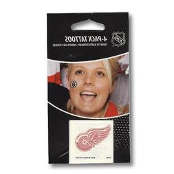 Detroit Red Wings 4-Pack Face Tattoos