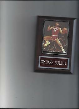 JULIUS ERVING PLAQUE PHILADELPHIA 76ers DR J  BASKETBALL NBA