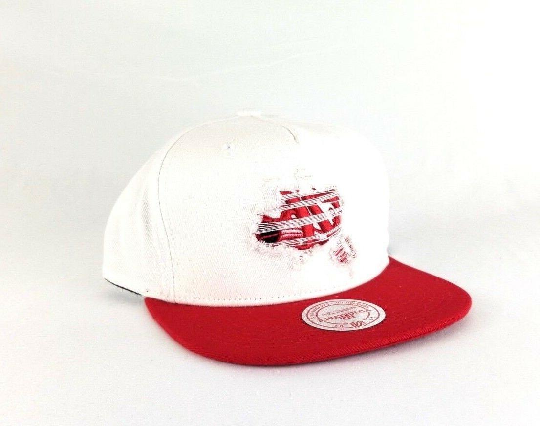 Mitchell & Ness Philadelphia Red Distressed Hat