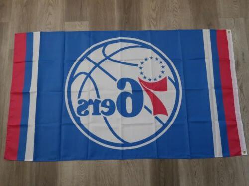 nba philadelphia 76ers team flag banner 3