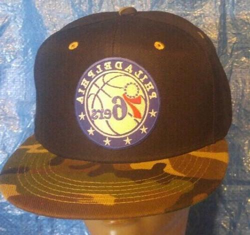 Philadelphia 76ers Black & Bill Snapback