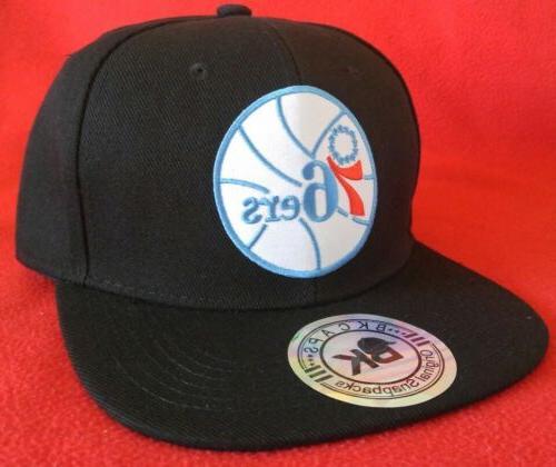 Philadelphia 76ers Baseball Black Flat Snapback