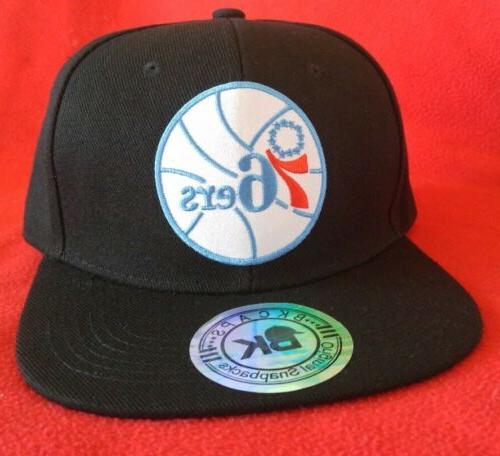 Philadelphia Baseball Cap Black Flat Snapback Hat