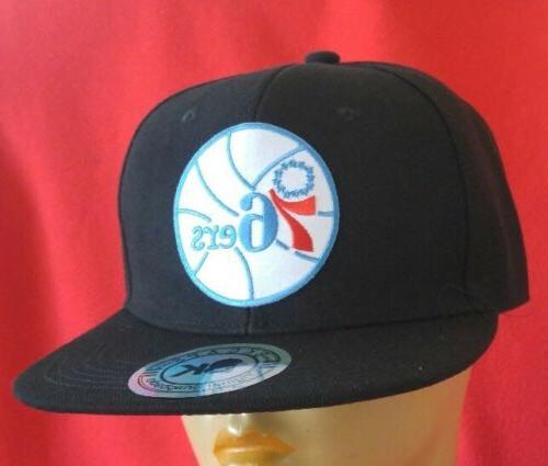 Philadelphia 76ers Black Flat Snapback