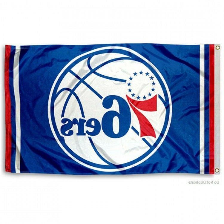 philadelphia 76ers flag 3 x5 nba new