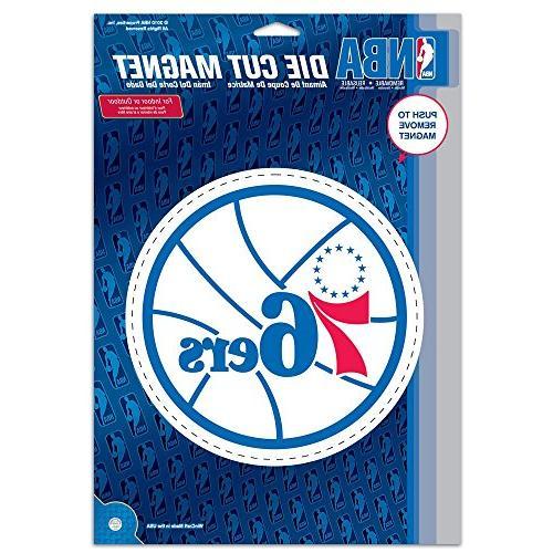 Philadelphia 76ers Official NBA 6 inch x 9 inch Car Magnet b