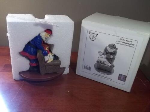 philadelphia 76ers santa s gift christmas figurine