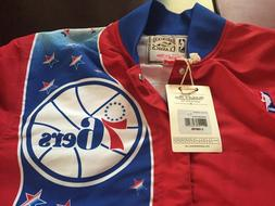 MENS Mitchell & Ness Philadelphia 76ers Red SIXERS Warm-Up J