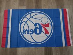 NBA PHILADELPHIA 76ers Team FLAG / BANNER 3 x 5 Feet - FREE