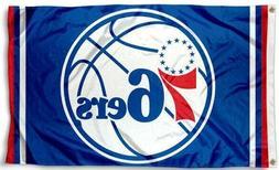 NEW Philadelphia 76ers Flag Large 3'X5' NBA Banner FREE SHIP
