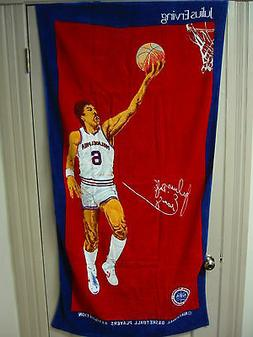 NOS Vintage Philadelphia 76ers Julius Erving Doctor J Beach