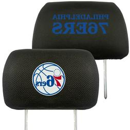 Philadelphia 76ers 2-Pack Auto Car Truck Embroidered Headres