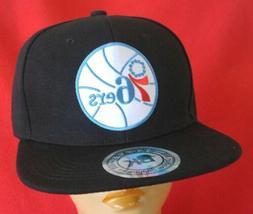 Philadelphia 76ers Baseball Cap Black Flat Bill Adjustable S