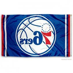 PHILADELPHIA 76ers FLAG 3'X5' NBA NEW LOGO BANNER: FAST FREE