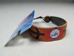 Philadelphia 76ers GameWear Leather Bracelet Officially Lice
