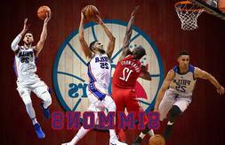 Philadelphia 76ers Lithograph print of  Ben Simmons 17 x 11