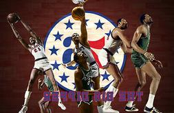 Philadelphia 76ers Lithograph print of Wilt Chamberlain 17 x