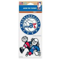 Philadelphia 76ers Wincraft NBA 4x8 Decal Sheet 2 Pc FREE SH