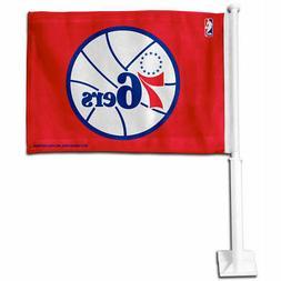Philadelphia 76ers Red Car Auto Window Flag