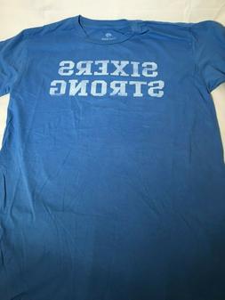 Philadelphia 76ers Sixers Strong Sportige Blue Distressed T-