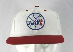 philadelphia 76ers white red nba baseball cap