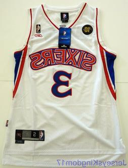 Throwback Jersey ALLEN IVERSON 3 Philadelphia 76ers White /